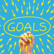Goals Concept Yellow — Stock Photo