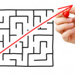 maze shortcut — Stock Photo #19141327