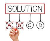 Solution Option C — Stock Photo