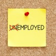 Stock Photo: Employed Not Unemployed Sticky Note