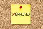 Değil işsiz yapışkan not istihdam — Stok fotoğraf