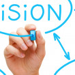 Vision Flow Chart Blue Marker - Stock Photo