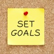 Set Goals Sticky Note — Foto Stock