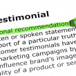 Stock Photo: Testimonial Definition