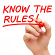 Know The Rules - Foto Stock