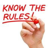 Conoscere le regole — Foto Stock
