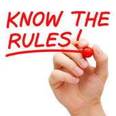 Know The Rules — 图库照片