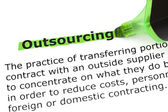 Outsourcing Definition — Stock Photo