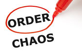 Order or Chaos — Stock Photo