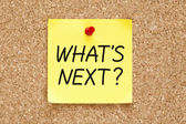 What is Next Sticky Note — Fotografia Stock