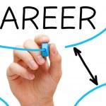 Career Flow Chart Blue Marker — Stock Photo