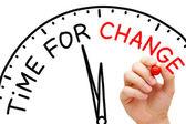 Tijd voor verandering — Stockfoto