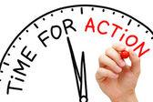 Tijd voor actie — Stockfoto