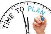 время, чтобы план — Стоковое фото