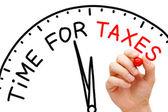 Tempo per le tasse — Foto Stock