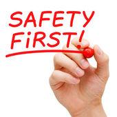 Sicherheit erste — Stockfoto