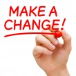 Make a Change — Stock Photo