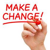 Bir değişiklik yapmak — Stok fotoğraf