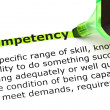 Competency Definition — Foto de stock #25698095