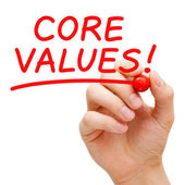 Core Values — Stock Photo