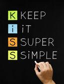 Houd het super eenvoudig — Stockfoto