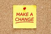 Make a Change Sticky Note — Stock Photo