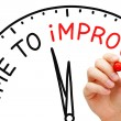 Time to Improve — Foto de Stock