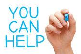 Můžete pomoci — Stock fotografie