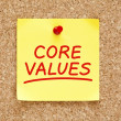Stock Photo: Core Values Sticky Note
