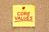Core Values Sticky Note — Stock Photo