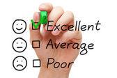 Formulaire d'évaluation de service client excellent — Photo