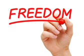 Freedom Red Marker — Stock Photo