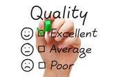 Excellent Quality Evaluation — Stock Photo