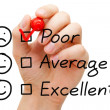 Stock Photo: Poor Customer Service Evaluation Form