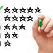 Stock Photo: Five Star Rating
