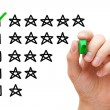 Five Star Rating — Stock Photo