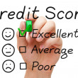 Stock Photo: Excellent Credit Score