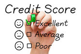 Excellent Credit Score — Stock Photo