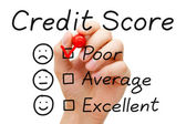 Poor Credit Score — Stock Photo