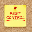Pest Control Sticky Note — Stock Photo