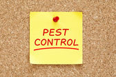 Pest Control Sticky Note — Stockfoto