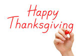Happy Thanksgiving Red Marker — Stock Photo