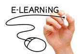 E-learning Mouse Concept — ストック写真