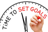 Time to Set Goals — Stock Photo
