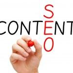 Content SEO Crossword — Stock Photo