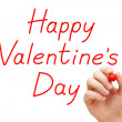 Happy Valentines Day Red Marker — Stock Photo #38219891
