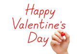 Happy Valentines Day Red Marker — Foto de Stock