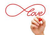 понятие бесконечности любви — Стоковое фото