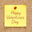 Happy Valentines Day Sticky Note — Stock Photo #39523439