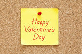 Happy Valentines Day Sticky Note — Stockfoto